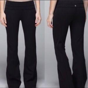 LULULEMON Groove Yoga Pants Solid Black {2C20}